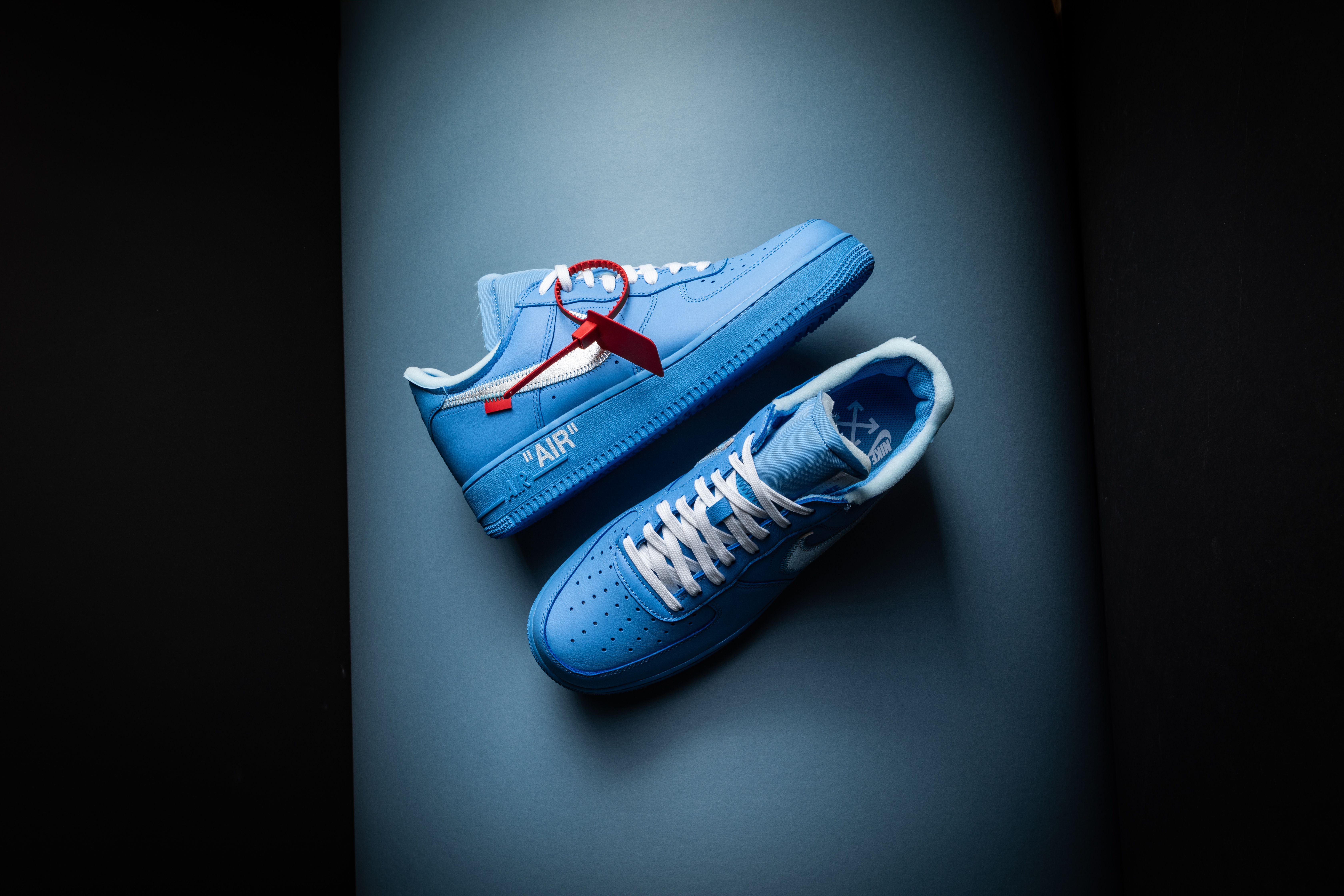 Details about NIKE AIR FORCE 1 ONE OFF WHITE MCA UNIVERSITY BLUEWHITE SILVER CI1173 400 2019