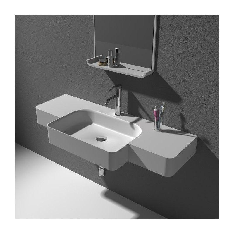 Grand Lave Mains A Suspendre Avec Vasque En Debord Centree Sdwd38189 Plan Vasque Vasque Rectangulaire Vasque