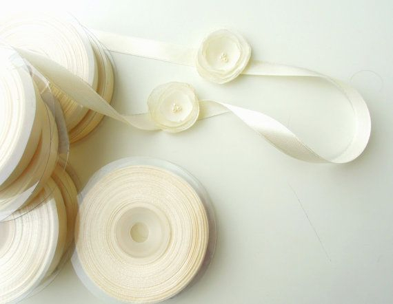 Green 6mm Satin Ribbon Single Sided Wedding Ribbon Crafts Trimming