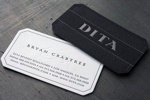 ★★★★★ | The incomparable business cards of Bryan Crabtree of DITA, a luxury eyewear boutique in Los Angeles. Printed the duplex method with ...
