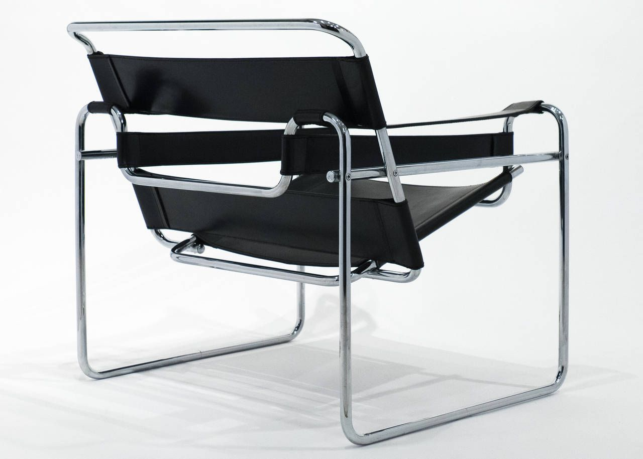 leather and chrome chair. Vintage Pair Of Leather And Chrome Wassily Chairs 7 Chair T