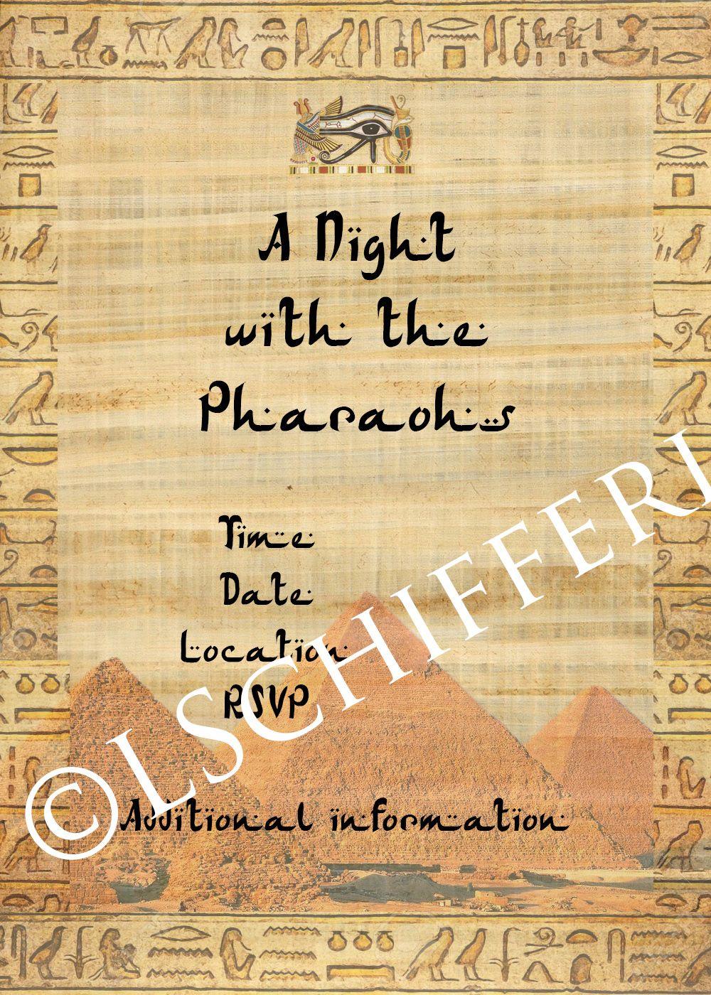 Ancient Egypt theme invitation | Sofía's15 | Invitations