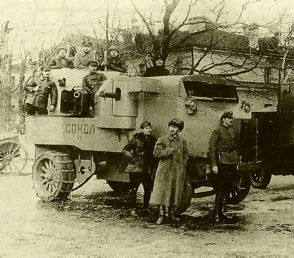 Putilov-Garford Armored Car in Russian service | ww1 | Pinterest