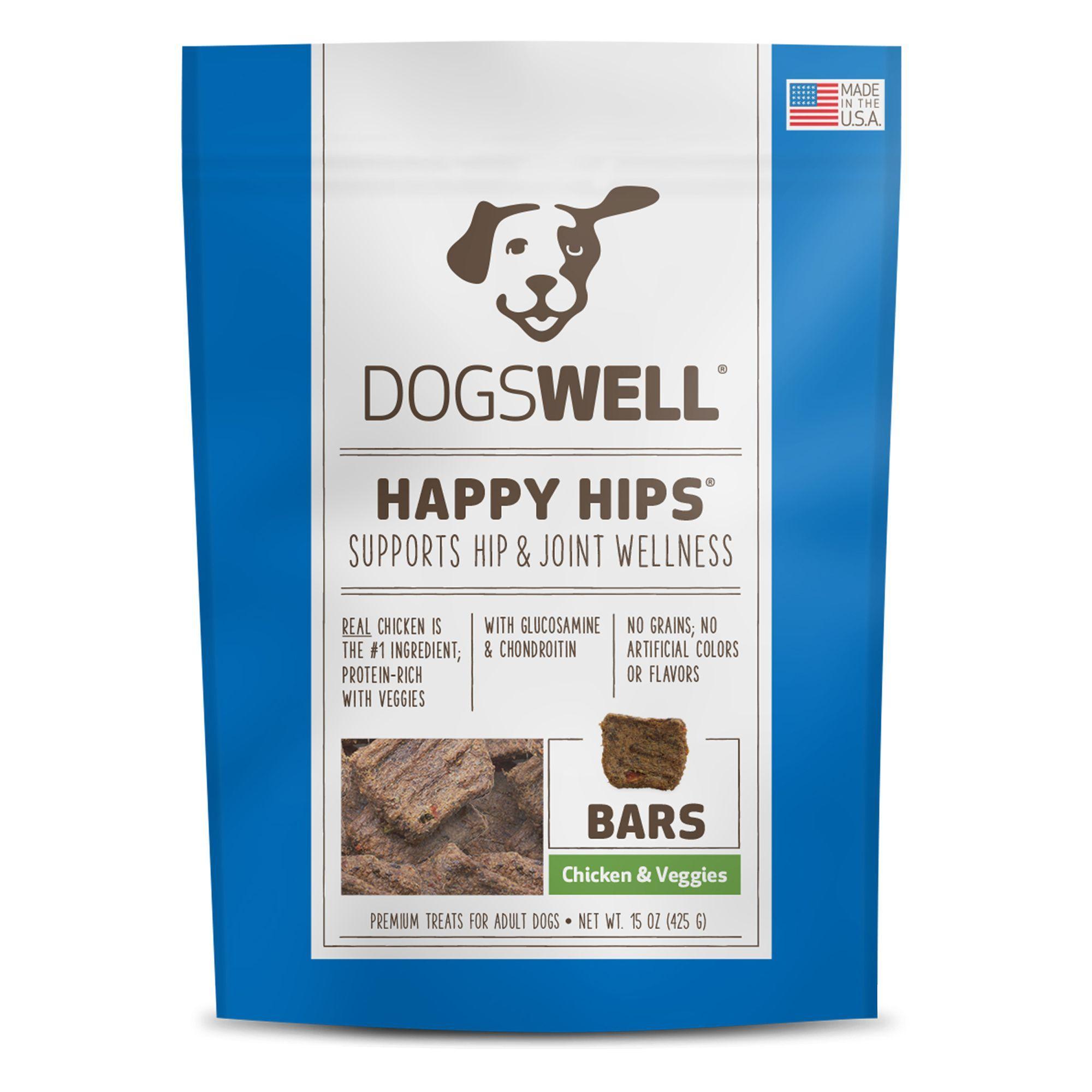 Dogswell Happy Hips Bars Dog Treat Grain Free Chicken And Veggies Size 15 Oz Jerky Bar Treat Adult Jerky Treats Chicken Flavors Dog Treats Grain Free