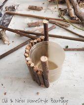 Machen Sie ein Fass für einen Wunschbrunnen mit einem Deckel und Zweigen. 37 DIY Miniature Fa...