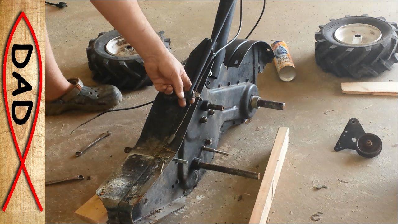 Craftsman rear tine tiller repair - stuck gears | Rototiller Repair
