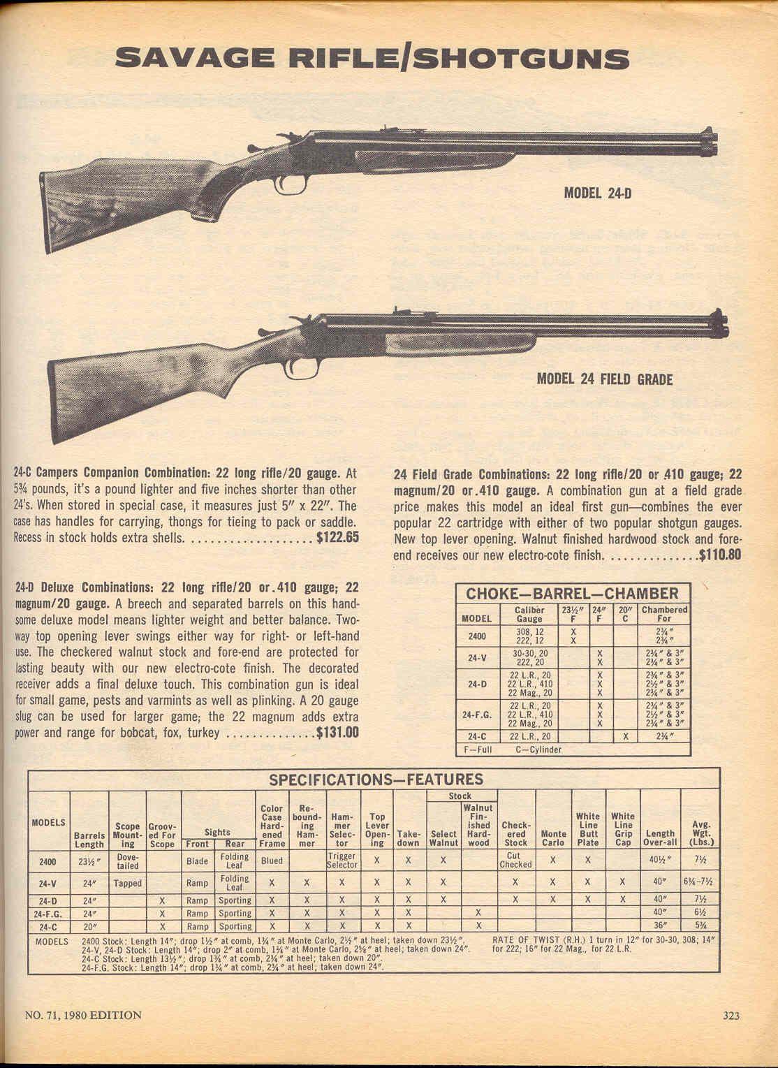 Model 24 price savage Stevens Savage