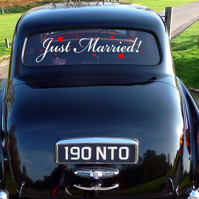 just married car vinyl with images  just married just