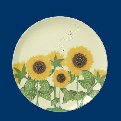Bees Sunflowers And A Bee Party Plates