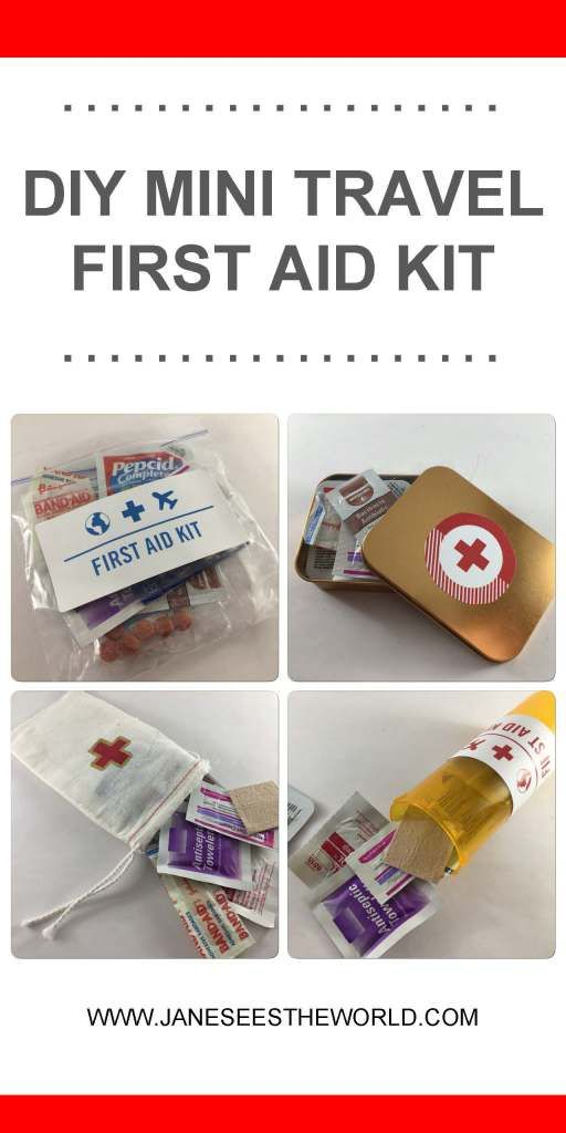 DIY mini travel first aid kit, what to pack and how to carry it