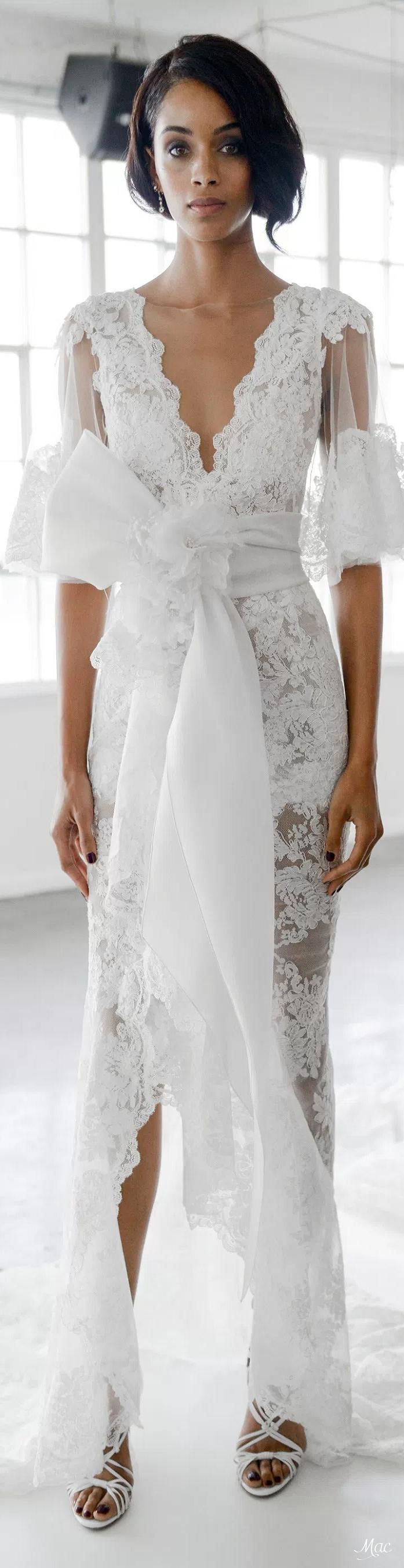Fall bridal marchesa runway pinterest
