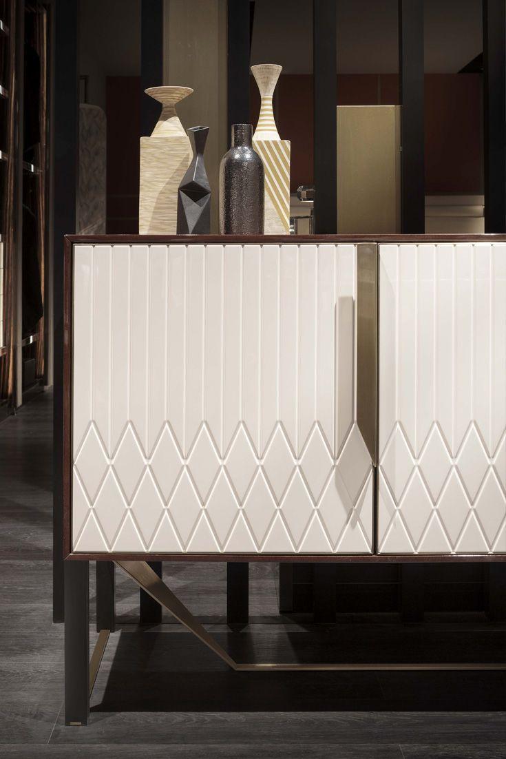 Contemporary Italian Designer 4 Door Buffet Sideboard In