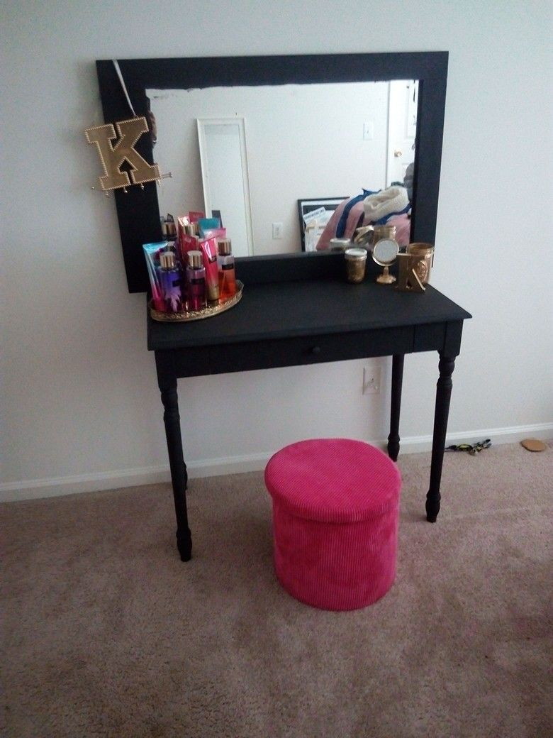 Project Completed!!  #makeupvanity #DIY #interiordesign