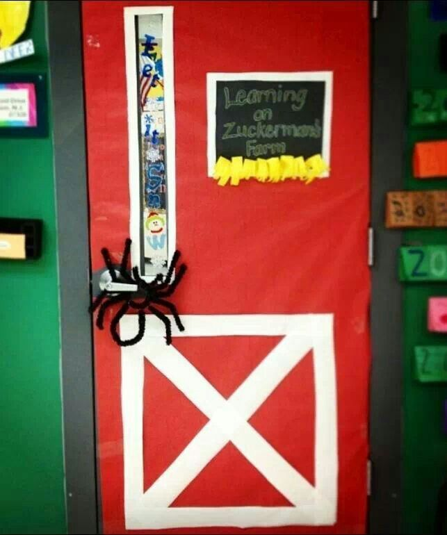 Teacher Classroom Decor Websites ~ What a nifty classroom door decoration for charlottes web