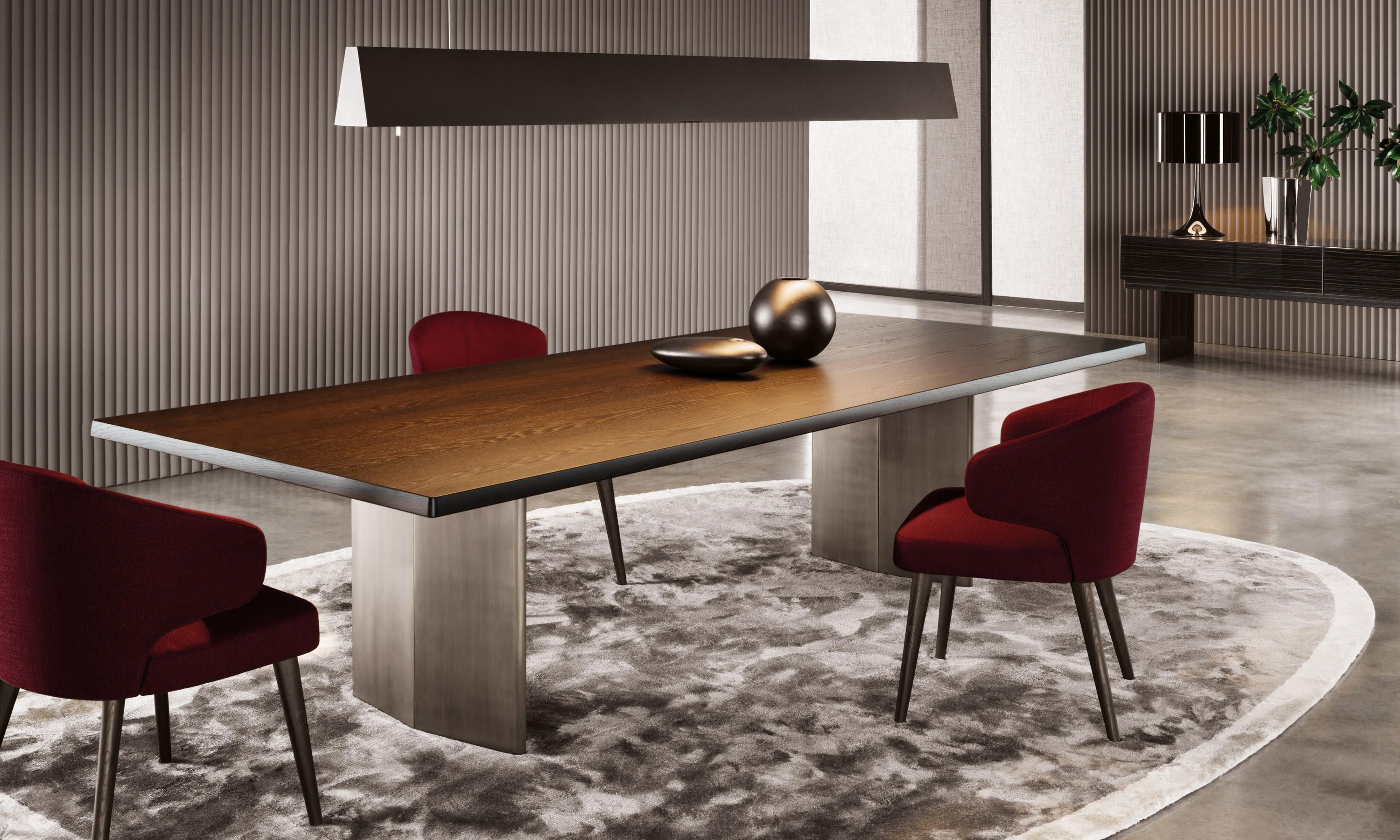 Minotti Morgan Luxury Dining Tables Dining Room Design Dining Table Design