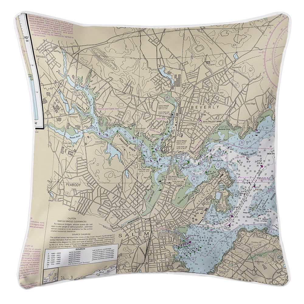 Ma salem peabody beverly ma nautical chart pillow nautical ma salem peabody beverly ma nautical chart pillow nvjuhfo Gallery