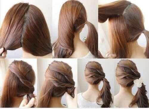 peinados para pelo largo suelto paso a paso | peinados pelo largo