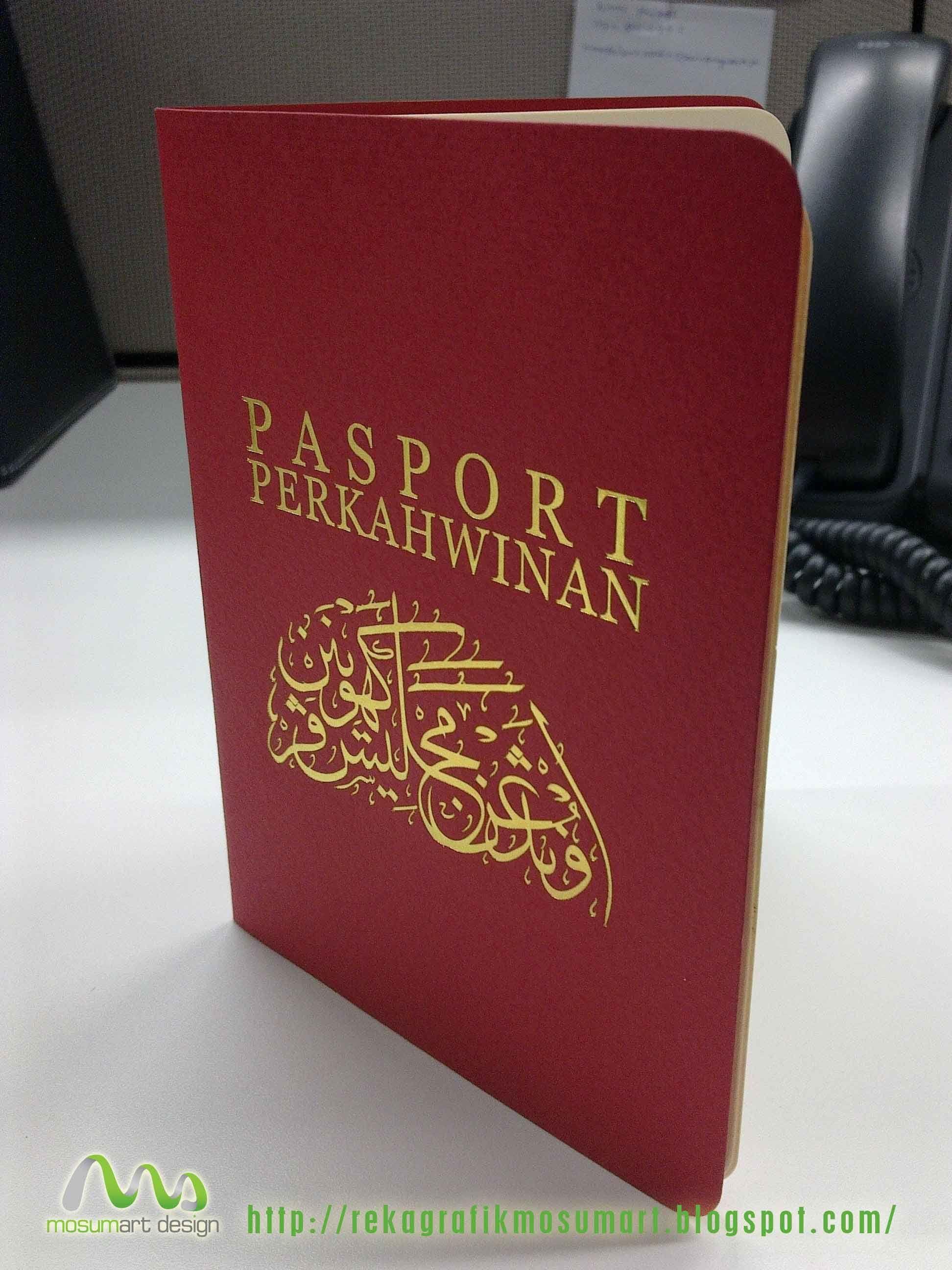 Kad Kahwin Kreatif Versi Passport Di Malaysia Tempahan Sms 0145230284 Creative Wedding Invitations Kad Kahwin Wedding Planner