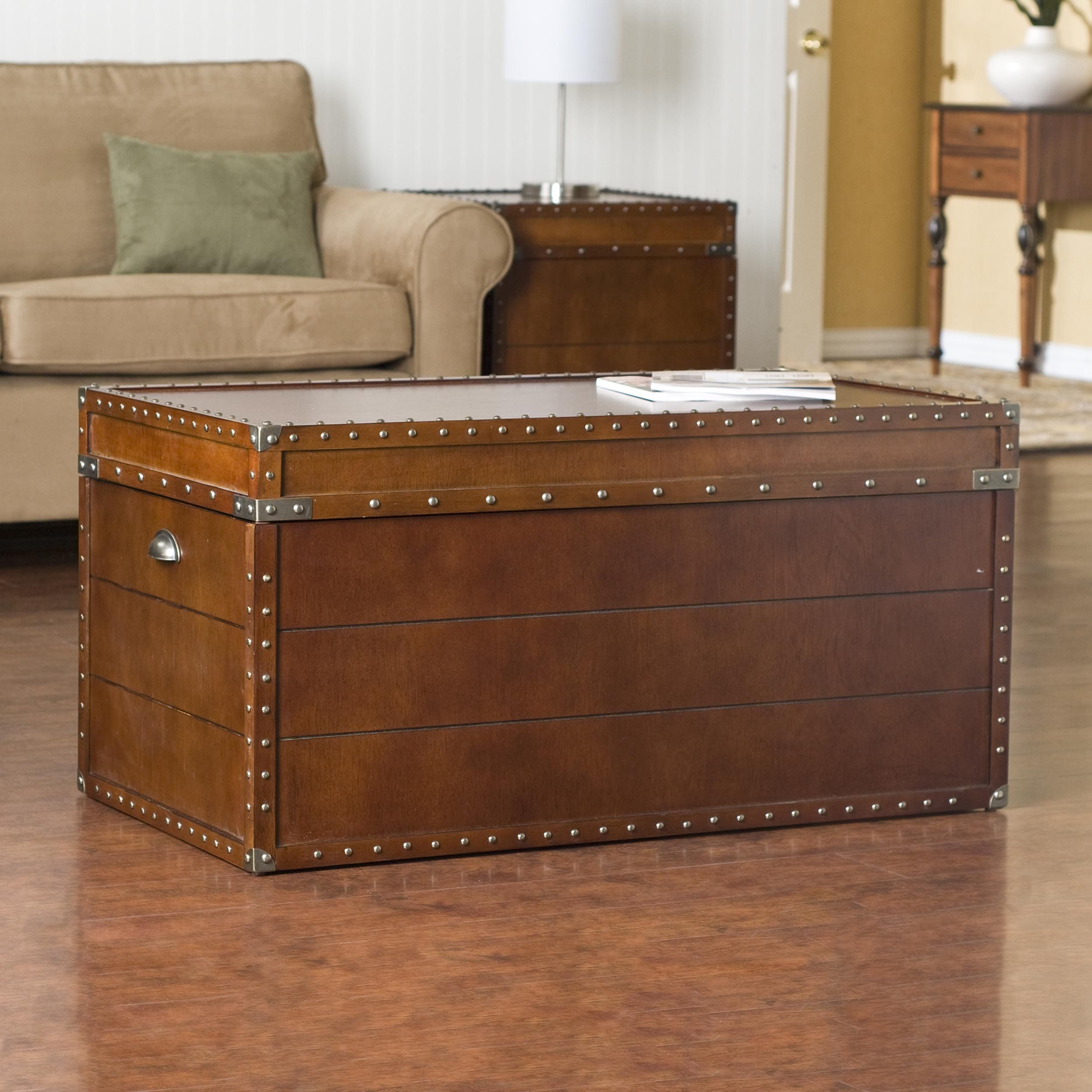 trunk coffee tables with storage