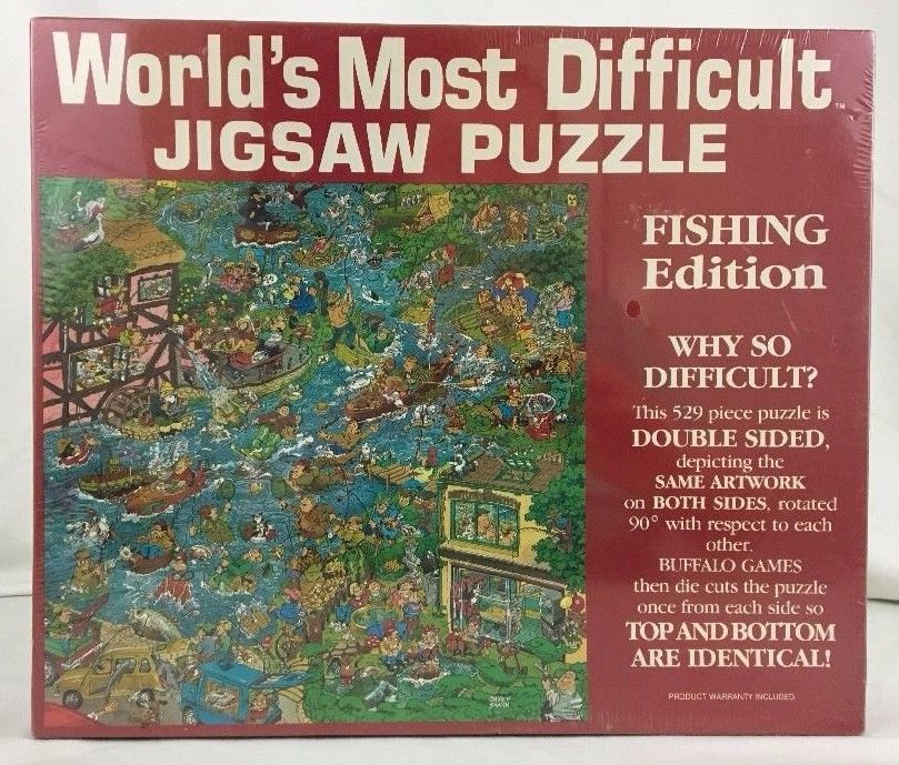 Worlds Most Difficult Jigsaw Puzzle FISHING Double