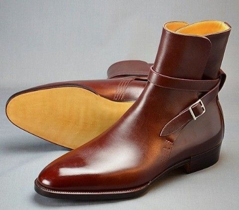 Beautiful Brown Claasic Leather Jodhpurs Mens Buckle Boot For You