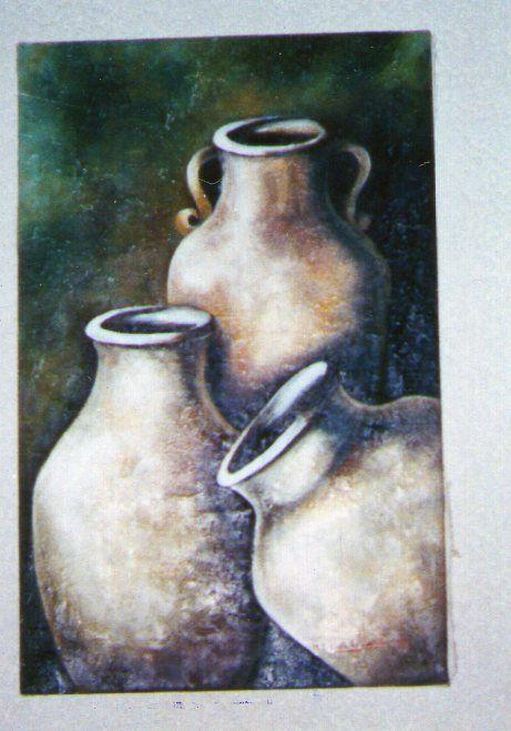 Img 338 Oleo Sobre Tela Bodegon Con Cantaros Pintado Por Ma