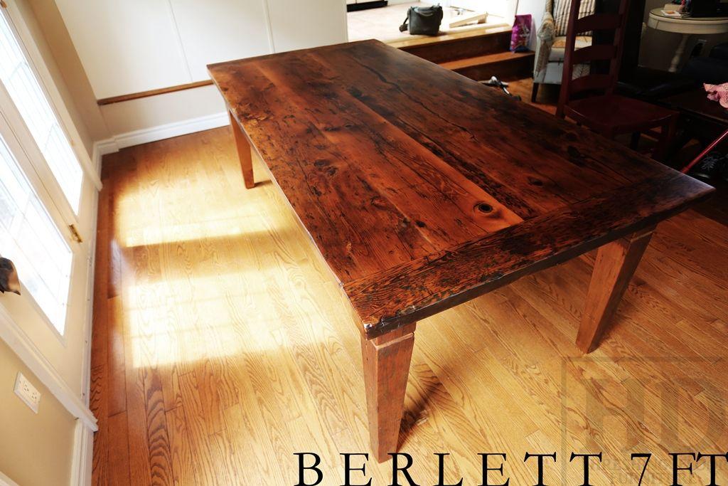 Reclaimed Wood Harvest Table With Epoxy/matte Polyurethane Finish  Www.hdthreshing.com