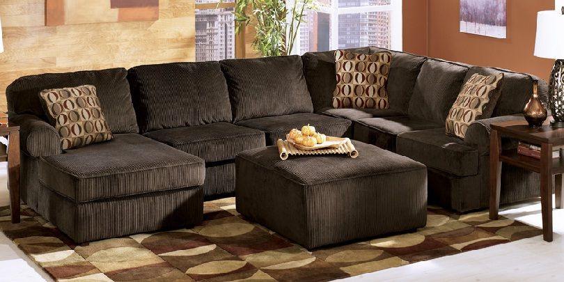 Ashley Corduroy Sectional Sofa