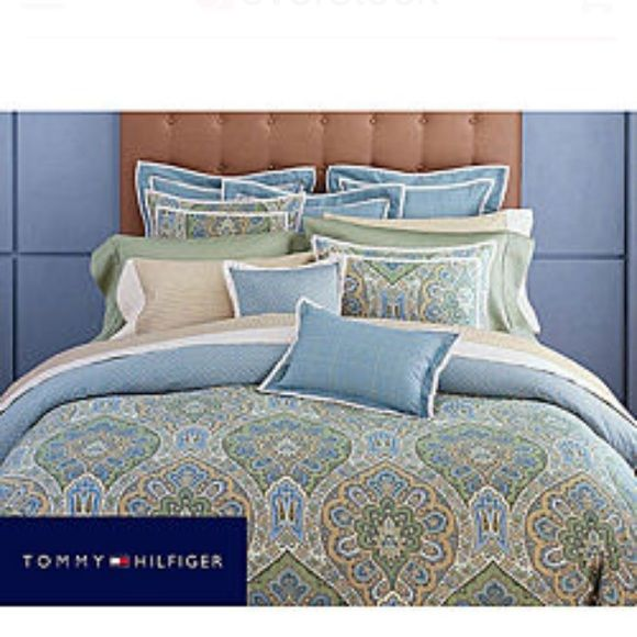Tommy Hilfiger Full Queen Duvet Bed Set This Beautiful Comes With The Skirt Two Decorative Pillow Shams