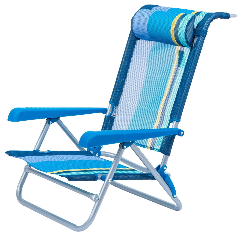7 Level Reclining Beach Chair Outdoor Warehouse Beach Chairs Outdoor Chairs Beach Furniture