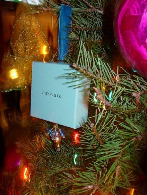 Christmas Tree Ornament Made Using A Tiffany Box Unique Christmas Trees Christmas Tree Decorations Christmas