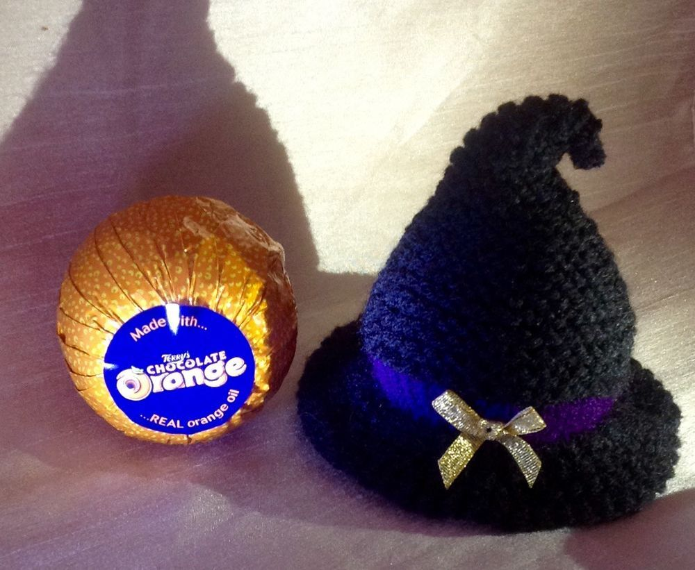 Halloween Knitted Witch Hat Terrys Chocolate Orange Cover