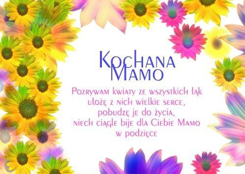 Kochana Mamo Pozrywam Kwiaty Ze Wszystkich Lak Diy And Crafts Mama Crafts