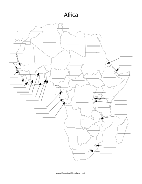Map Of Asia Fill In.This Printable Map Of The Continent Of Africa Has Blank Lines On