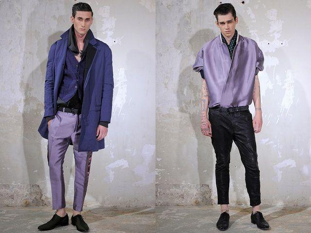 Hombres Chic » Paris fashion week   Haider Ackermann Spring/Summer 2014.