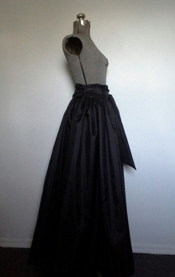 Taffeta Ball Gown Skirt with Removable Sash, Bridesmaids skirt ...