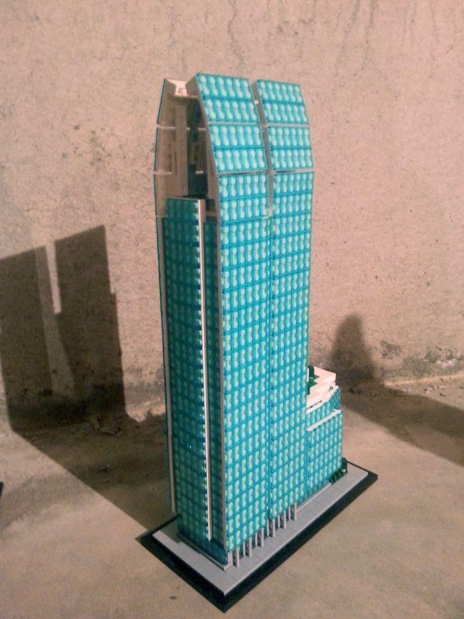 Moc Micro Scale Skyscraper 1180 Peachtree Atlanta Http Www Brickshelf Com Cgi Bin Gallery Cgi F 546747 Lego Architecture Lego Worlds Lego Creations