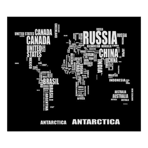 Typography world map poster typography design typography and typography world map poster gumiabroncs Images
