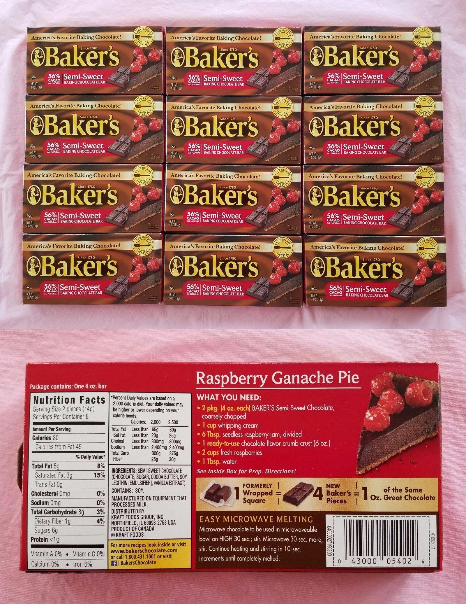 Baking Chocolate 179191 Lot Of 12 Baker S Semi Sweet Baking