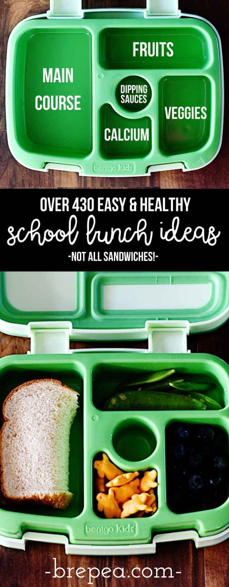 430+ Super Easy Healthy School Lunch Ideas for Kids images