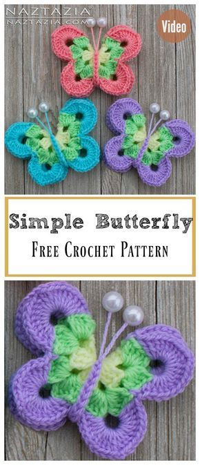 Sweet Simple Butterfly Free Crochet Pattern and Video Tutorial ...
