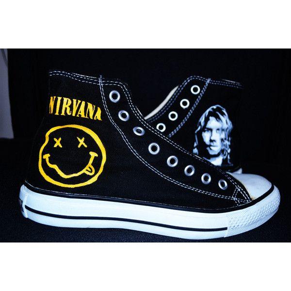 Nirvana handpainted converse shoes </p>                 </div>                 <div id=