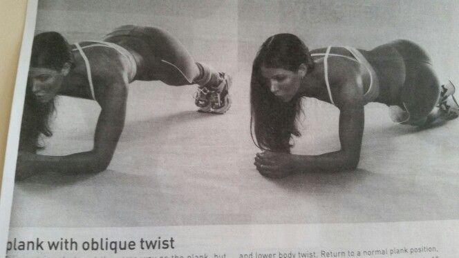 Plank Oblique Twist / Rainbow Plank / Ass to the Grass