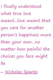 The meaning of love...so true