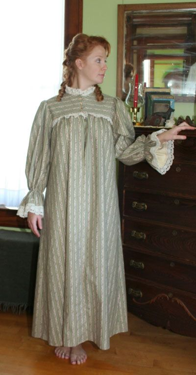 victorian nightgown clothing the storied people. Black Bedroom Furniture Sets. Home Design Ideas