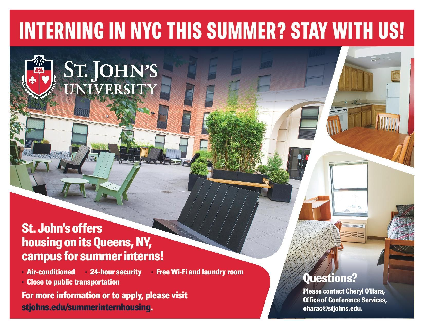 Every Summer We Offer Interns Housing At Our Nyc Campus If You