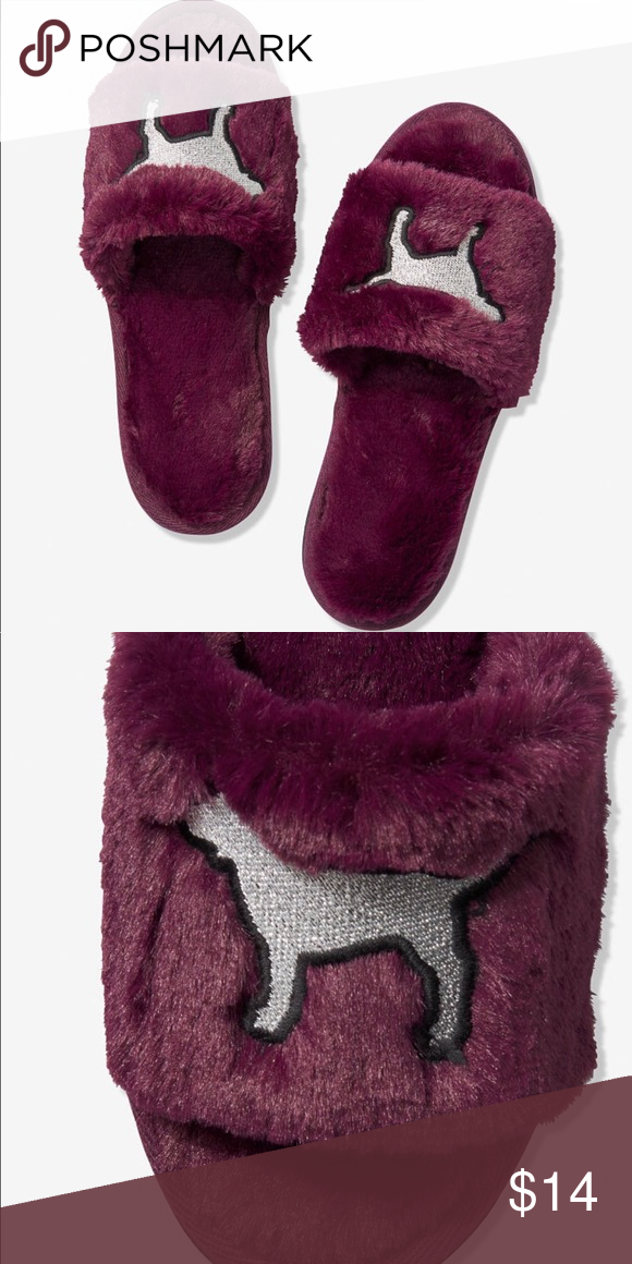 Pink faux fur, Pink slippers, Victoria
