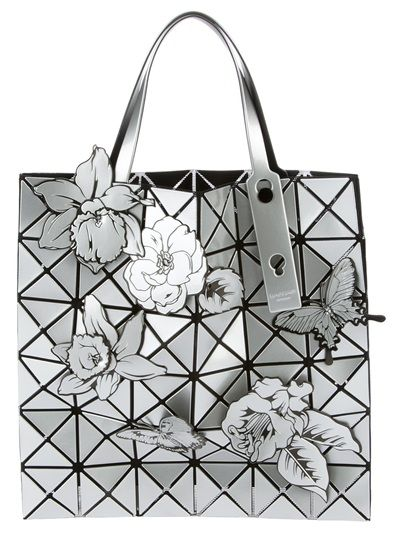 795e151d51 Grey patent tote from Bao Bao Issey Miyake