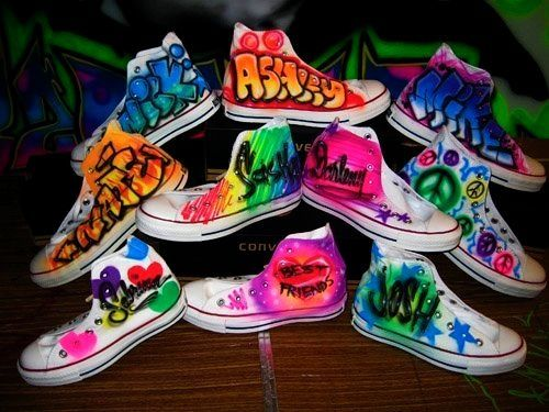 airbrushed converse