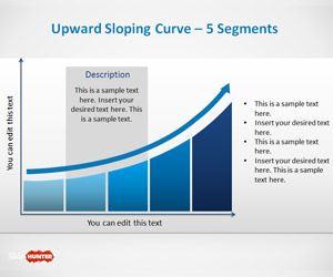 free upward sloping curve template for powerpoint is a nice curve, Modern powerpoint